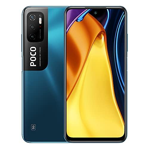 Xiaomi POCO M3 Pro 5G Smartphone Dual Sim 4GB+64GB 90Hz 6.5   FHD+ DotDisplay, MediaTek Dimensity 700, tripla fotocamera da 48 MP (Blue)