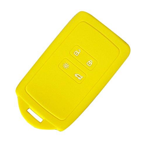 Happyit Siliconen auto afstandsbediening sleuteletui case afdekking voor Renault 2016-2017 Kadjar Skin Protector accessoires geel