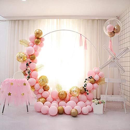 Further Latex-Luftballons, Girlanden-Set, zum Basteln von Macarons, Latex, für Dekorationen von Hochzeiten, Geburtstagen, 176 Stück Rosa