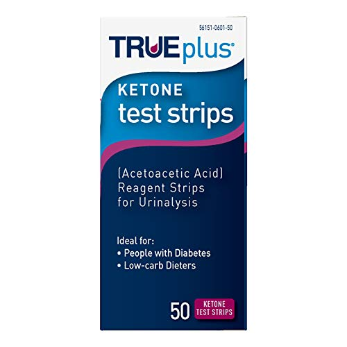 TRUEplus® Ketone Test Strips – Made in USA–Urinalysis Test Sticks (50) by Trividia Health
