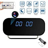ZDMYING Hidden Camera Clock, HD 1080P WiFi Spy Camera Clock with Night Vision Motion Detection, 140° Angle Video Recorder Nanny Cam for Home Office Security Surveillance Monitor