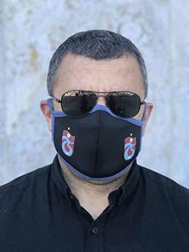 Gök-Türk Unisex Maske Mundschutz für Radfahren Anti-Staub Gesichtsmaske für Fussballfans Trabzonspor