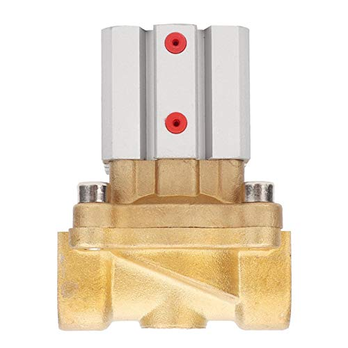 Válvula, Válvula de control neumático de latón firme resistente a la corrosión, práctica para agua y aire(2Q250-25)