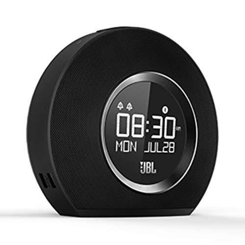 JBL Horizon Radiowecker in Schwarz – Dual Wecksystem über Bluetooth, UKW-Radio und Weckton – LED Nachtlicht für gemütliches Aufstehen