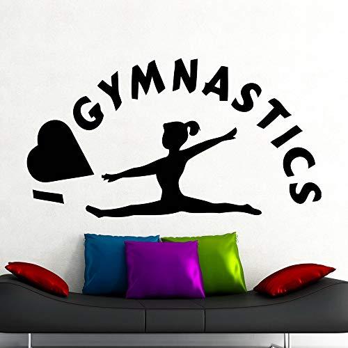 Tianpengyuanshuai Muurtattoo, sport, fitness, gym, yoga, slaapkamer, decoratie, deur, ramen, meisjes, kamer, behang, 57 x 31 cm