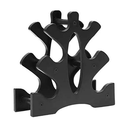 TOMMYFIELD ダンベル ラック スタンド 収納 ホルダー 小型 鉄アレイ コンパクト ツリー a 3段 ブラック (3層 A)