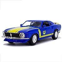 モデルカーフォードマスタングGT 1967モデル1時24分アナログダイカスト合金のおもちゃのモデルカー24x13x10CM
