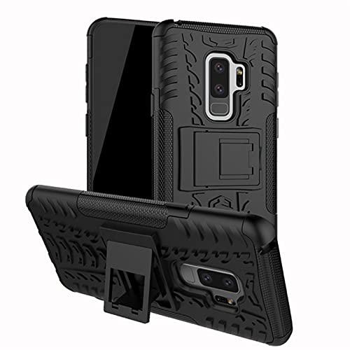 HJKKLL Carcasa Delgada de Armadura Resistente a Prueba de Golpes Fit For Samsung Galaxy S10 S8 S9 Plus S7 S6 Edge S5 J4 J5 J6 J7 J1 2016 2017 2018(Color:Hei,Size:J6Plus)