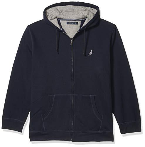 Nautica Men's Anchor Fleece Full-Zip Hoodie, True Navy, Large