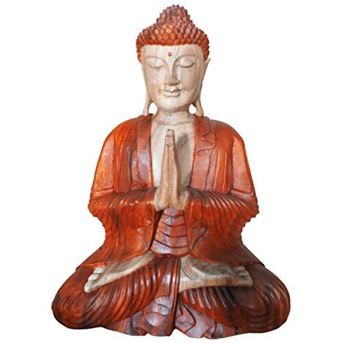 HoitoDeals Estatua de Buda tallada a mano de 60 cm para decoración del hogar