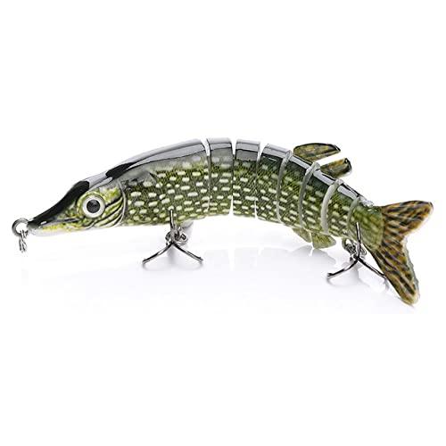 OPLKJ 12,5 cm 20g 9 segmentos Swimbait Pike Wobblers señuelo de Pesca Multi articulado Cebo Duro almizclado hundimiento Tipo Artificial B-3