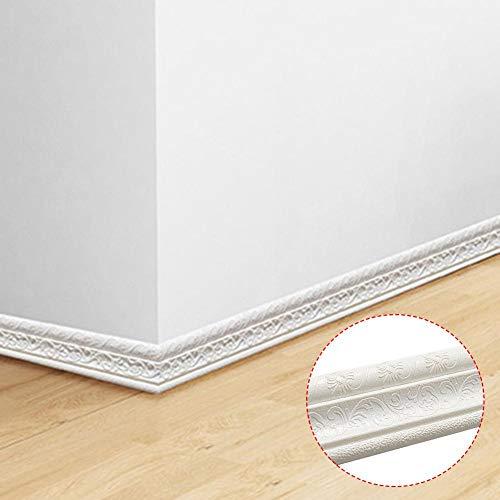 N/D Borde de Papel Tapiz, 3D Adhesivos autoadhesivos Removibles a Prueba de Agua Pegatinas Línea de moldura de Pared Flexible, Tiras de Adornos para Pisos para baños de Cocina