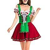 ERZU Bar Sexy Maid Disfraz Disfraces Oktoberfest Baviera Dirndl Cerveza Cerveza Vestido Partido Piedra Traje