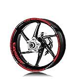 Llantas de la Rueda de la Motocicleta Pegatinas Reflectantes Calcomanías de neumáticos Moto Accesorios Decorativos Conjunto para Honda CB500F CB500 Etiqueta Decorativa (Color : XT LQ CB500F Red)