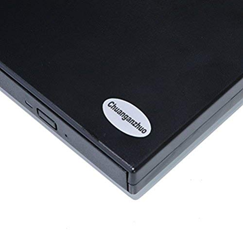 External Optical Drive USB 2.0 DVD CD Player For Windows98  SE ME   2000   XP Vista Win 7  Win 8,Ultra Notebook PC Desktop Computer,Plug and Play,Black (DVD-Rom)