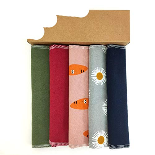 6 unids/set paños de limpieza Unpaper toalla paño servilletas bebé tela franela algodón limpieza hogar herramientas -556-A-1