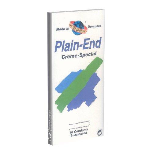 World\'s Best Kondome: Plain End Cream Special, feuchte Kondome ohne Reservoir - Kondome mit flachem Ende - Kondome aus Dänemark, 1 x 10 Stück