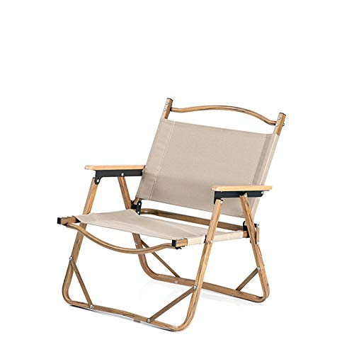 lijunjp Beach Camping Folding Chair, Portable Durable Compact Traveling Foot Stool, Wood Grain Nap Chair, for Camp Hiking Backpacking Lawn Sports