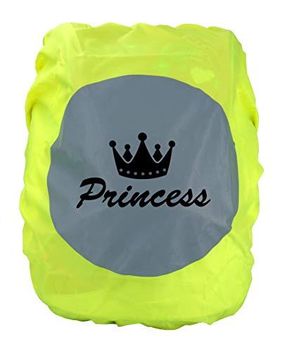 EANAGO Premium Schulranzen/Rucksack Regenschutz/Regenüberzug, ohne Nähte, 100% wasserdicht, mit Sicherheits-Reflektionsbild (Princess)