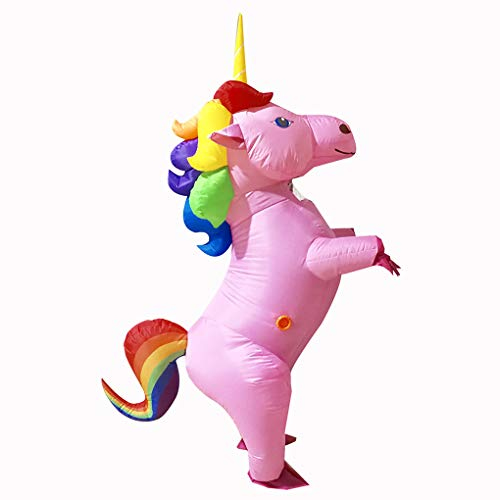 Inflatable Halloween Costumes Rainbow Unicorn Costumes for Adults Halloween Party Cosplay Costumes Air Blow UP Animal Suits