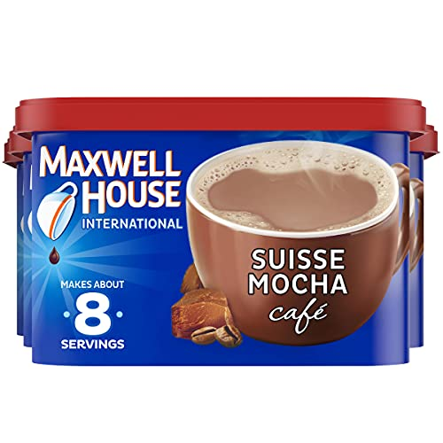 Maxwell House International Suisse Mocha Café-Style Instant Coffee Beverage Mix, 4 ct. Pack, 7.2 oz. Canisters