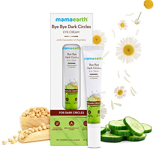 Mamaearth Bye Bye Dark Circles, Under Eye Cream for Dark Circles, with Cucumber & Peptides - 20ml