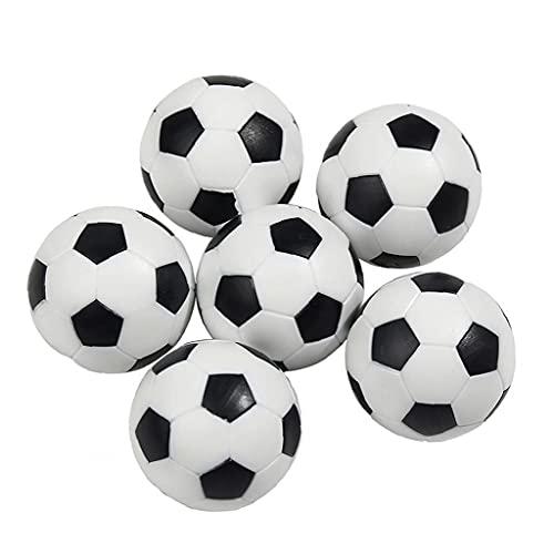Aiyrchin Mini Balones De Fútbol Mesa De Bola De Plástico Top Soccer Juego Reemplazo 6pcs