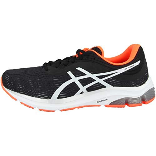 ASICS Men's Gel-Pulse 11 Running Shoes, 8, Black/White