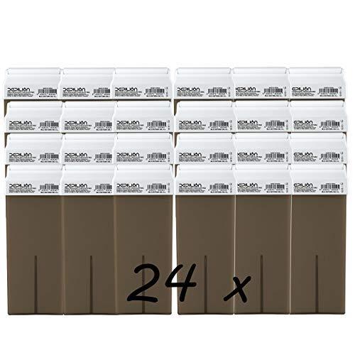 Depilion Wachs-Roll-On-Patronen, 100 ml, Schokolade, Roll-on Wachs für Haarentfernung