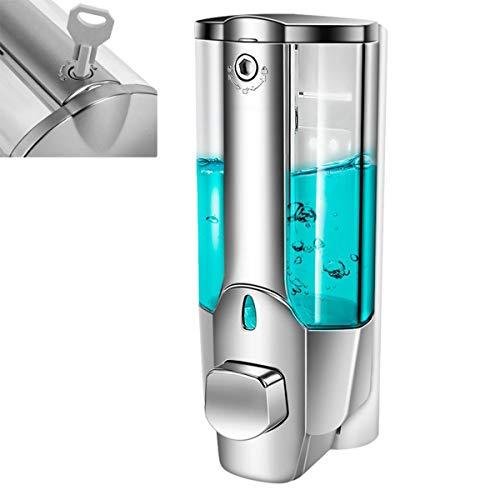 DERCLIVE Dispensador de Jabón de 350 Ml Recipientes Automáticos Montados en La Pared para Champú Cocina Baño Desinfectante para Manos