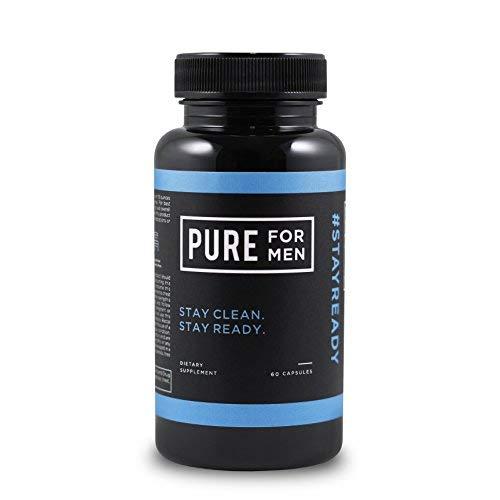 Pure for Men - El suplemento original de fibra de limpieza vegana - Fórmula patentada comprobada (60 Cápsulas Con Aloe)