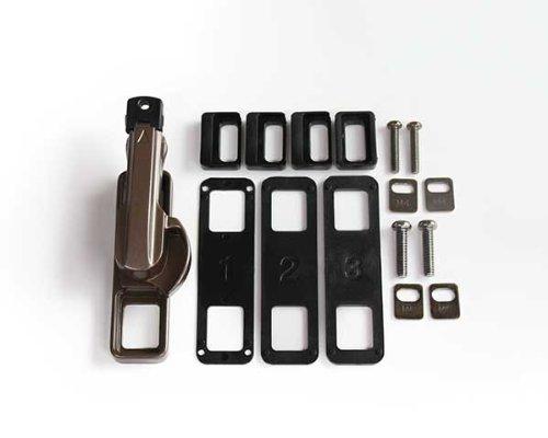 日中製作所 キーでロックするタイプ 鍵付取替クレセント錠 R用 アンバー