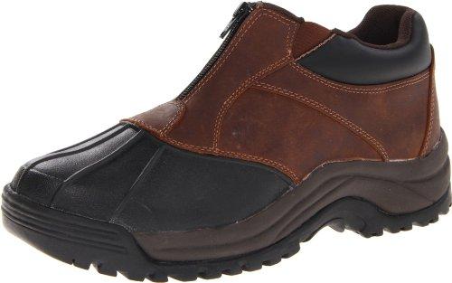 Propet Men's Blizzard Ankle Zip Boot,Brown/Black,12 D US