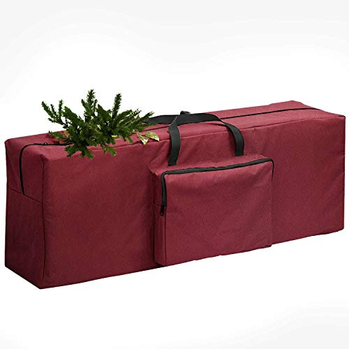 Christmas Tree Storage Bag ,Christmas tree bag With external pockets for Wreath Storage Container artificial trees Christmas Holiday decor,Durable Xmas Bag-Tear Proof Premium 600D Oxford