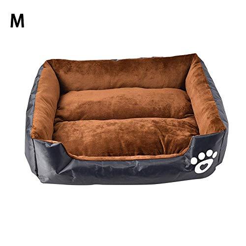 Dream-cool hondenbed voor honden en huisdieren, wasbaar, warm, orthopedisch bed voor katten, comfortabel, waterdicht, voor puppy's van hond M Donkergrijs