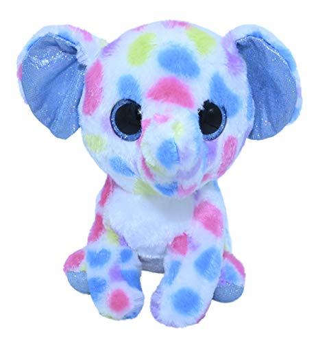 ML Peluche Elefante Azul para Bebes con Ojos Brillantes, tu Nueva Mascota para Adoptar, cuidar y amar de los Animales de Peluches 15cm (Elefante Azul)