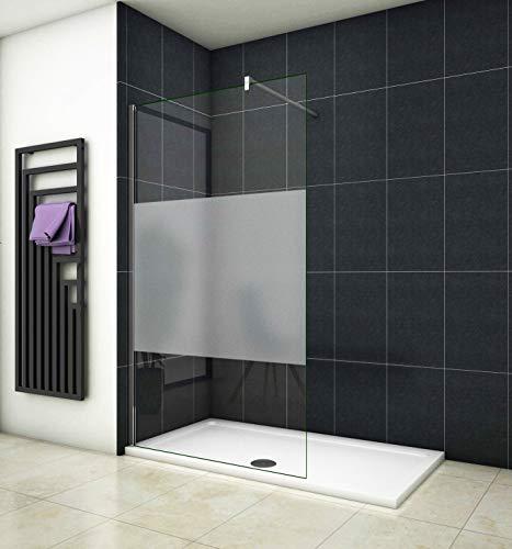 Aica Sanitär 90 x 200cm Duschwand Duschtrennwand 8mm Sicherheitsglas Walk in Dusche