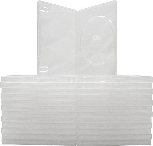 Boîtiers de rechange vides standard translucide pour films DVD simple #DVBR14CL lot X25