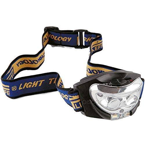 Lineaeffe Lampe Frontale 2 LEDs + Lumière Rouge Lampe de Pêche Frontale Nuit Leurre Bateau LED Mer