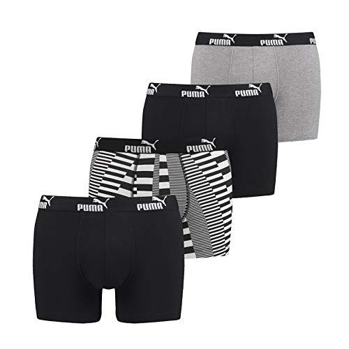 Puma Herren-Boxershorts, 3er-Packung, (501033001) Gr. XL, schwarz / grau