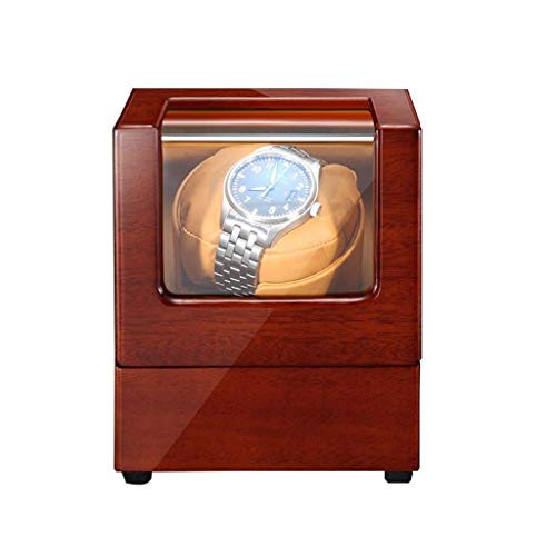 ZHANGYH Agitador de reloj mecánico para relojes automáticos con almohadas de reloj suaves y flexibles, funciona con caja giratoria de madera extremadamente silenciosa (color individual: