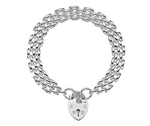 Sterling Silber Panther 25Charme & Schlüssel Armband