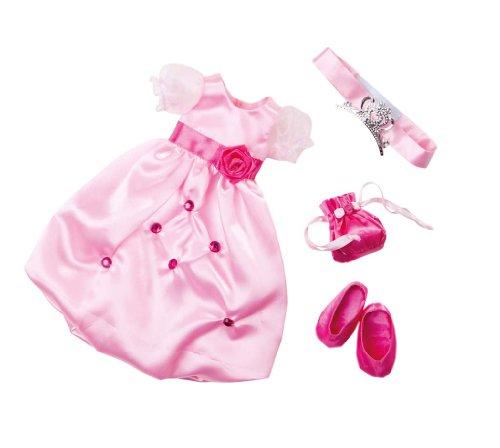Zapf Creation 908945 - Nelli Dreams Bekleidung Set, Prinzessin, pink