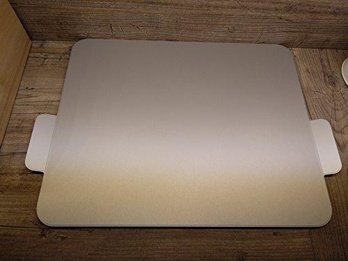 BSB Gleitbrett L MAMAS PLAYSTATION Alu eloxiert silber geeignet für einen Thermomix® und andere