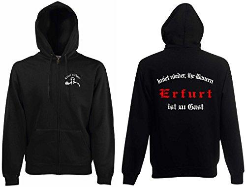 world-of-shirt Herren Kapuzenjacke Erfurt Ultras kniet nieder