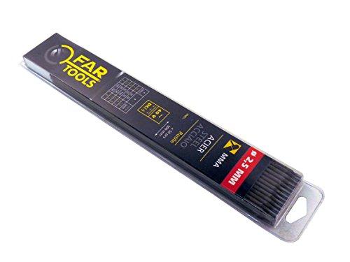 Fartools 150705 Electrode de soudure Type de baguette Rutile Diamètre 2,5 mm Longueur 300 mm Nombre de baguettes x50