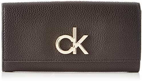 Calvin Klein Re-lock Lrg Trifold - Borse a tracolla Donna, Nero (Black), 1x1x1 cm (W x H L)