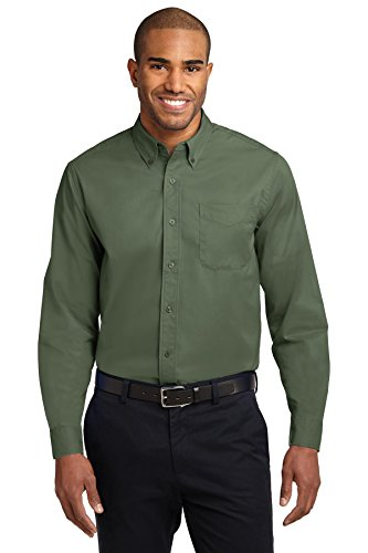 Port Authority Long Sleeve Easy Care Shirt, Clover Green, L