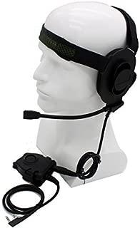 HD01 Z Tactical Bowman Elite II Headset with Peltor Style PTT For Kenwood 2 Pin Two Way Radio BaoFeng UV-5R UV-89 PuXing PX-888K QuanSheng WouXun TYT
