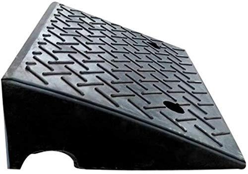 LIUYULONG Rampa de goma para vehículos, rampas de aparcamiento, rampas de entrada de fábrica, rampas de seguridad para exteriores en la carretera (color negro, tamaño: 50 x 32 x 14 cm)